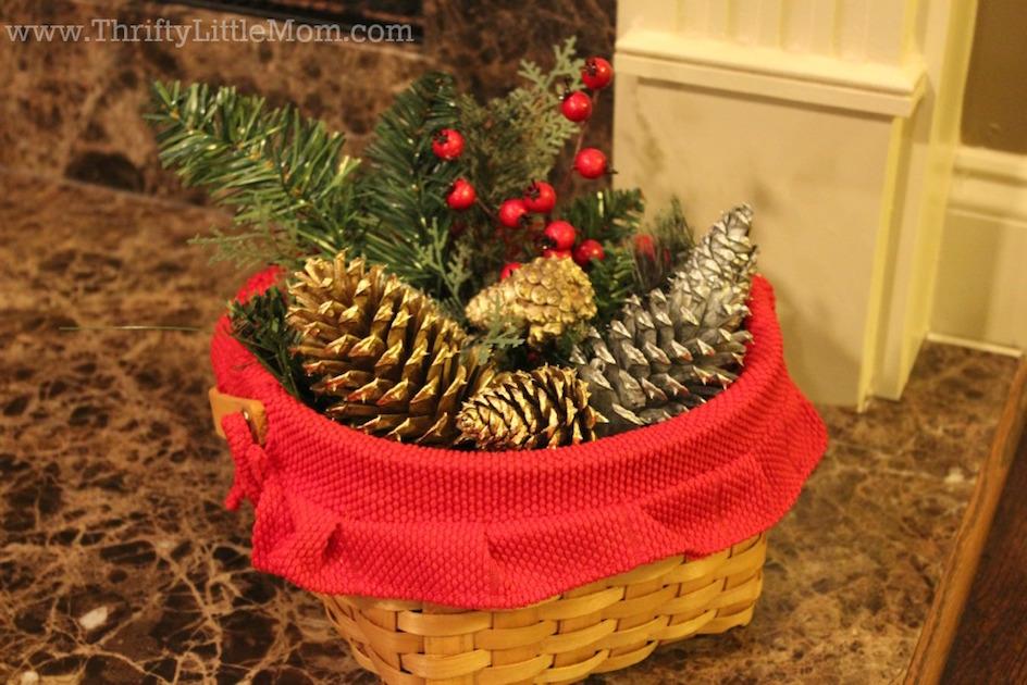 Pine Cone Christmas Basket