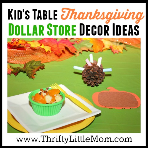 Thanksgiving Dollar Store Table Decor