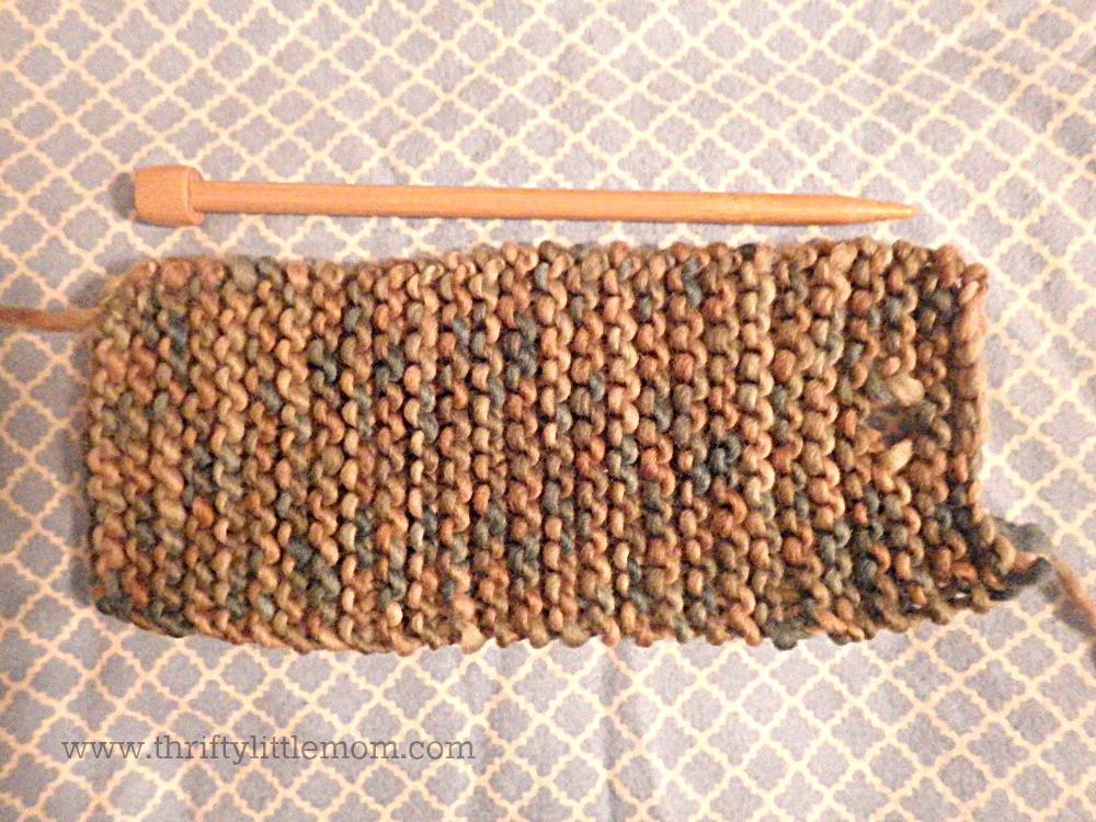 knitted rectangle