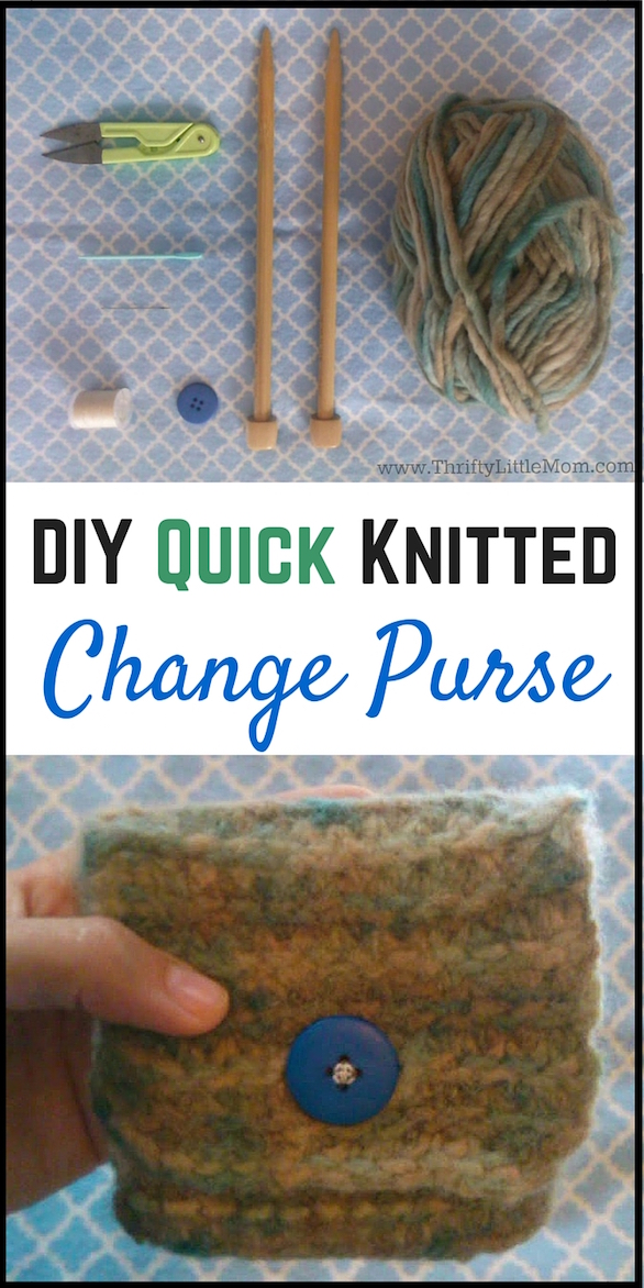 DIY Quick Knitted Change Purse