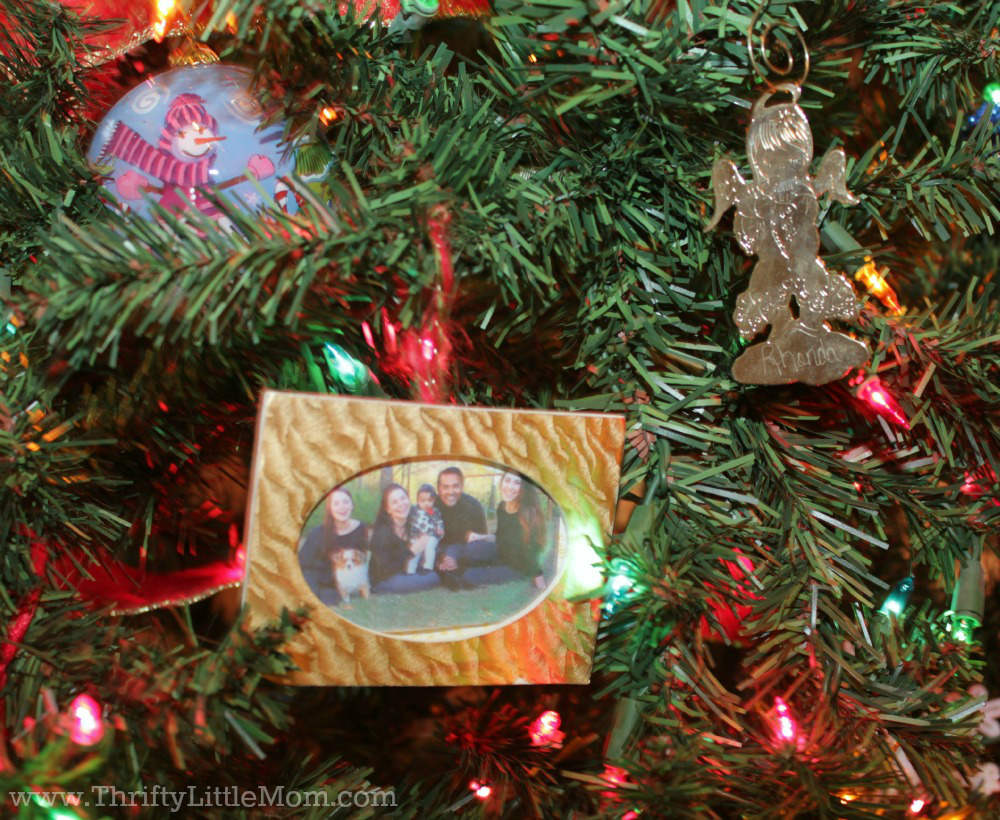 Christmas tree picture frame ornaments - Family Picture Frame Ornament