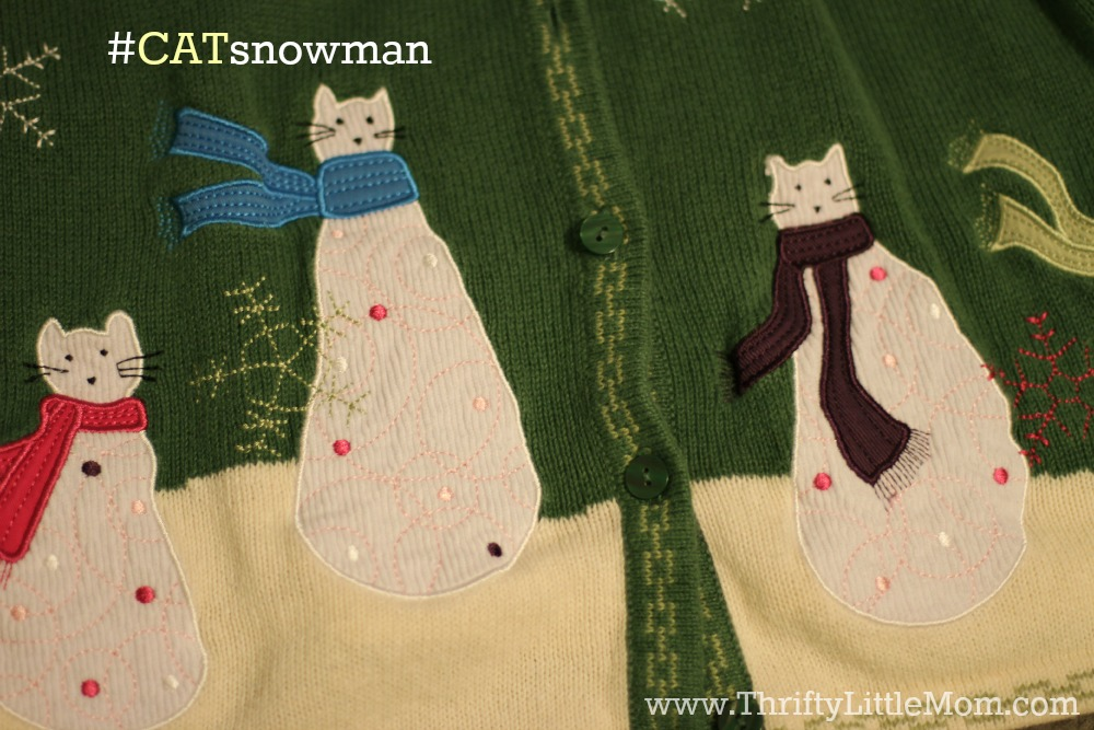 The Cat Snowman Shirt from the thrift store