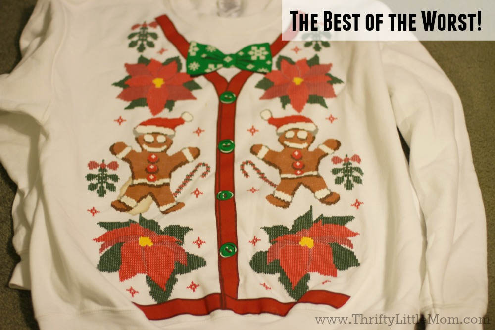 Ugly sweater store bought sweatshirt