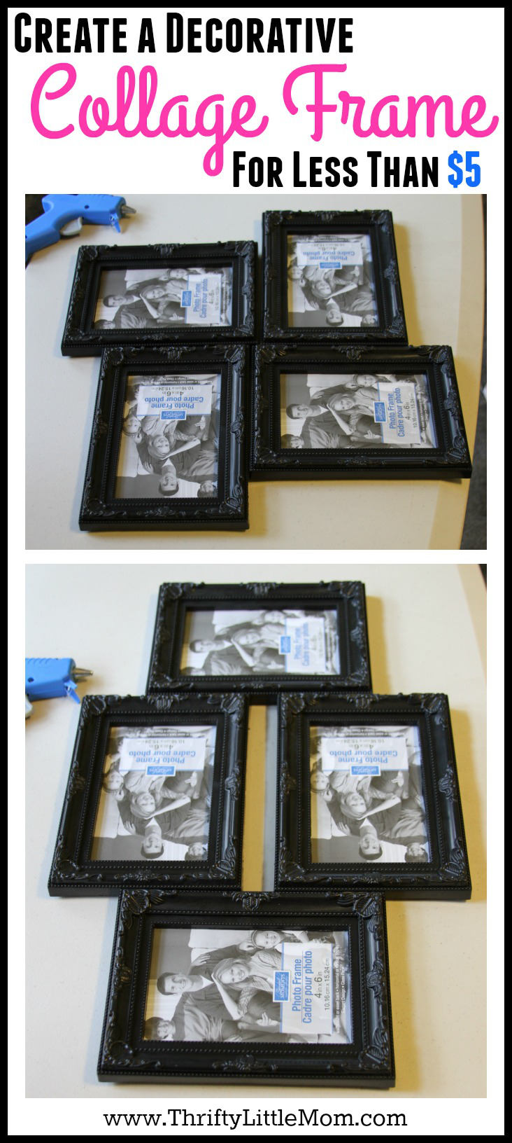 Create a decorative collage frame for less than $5