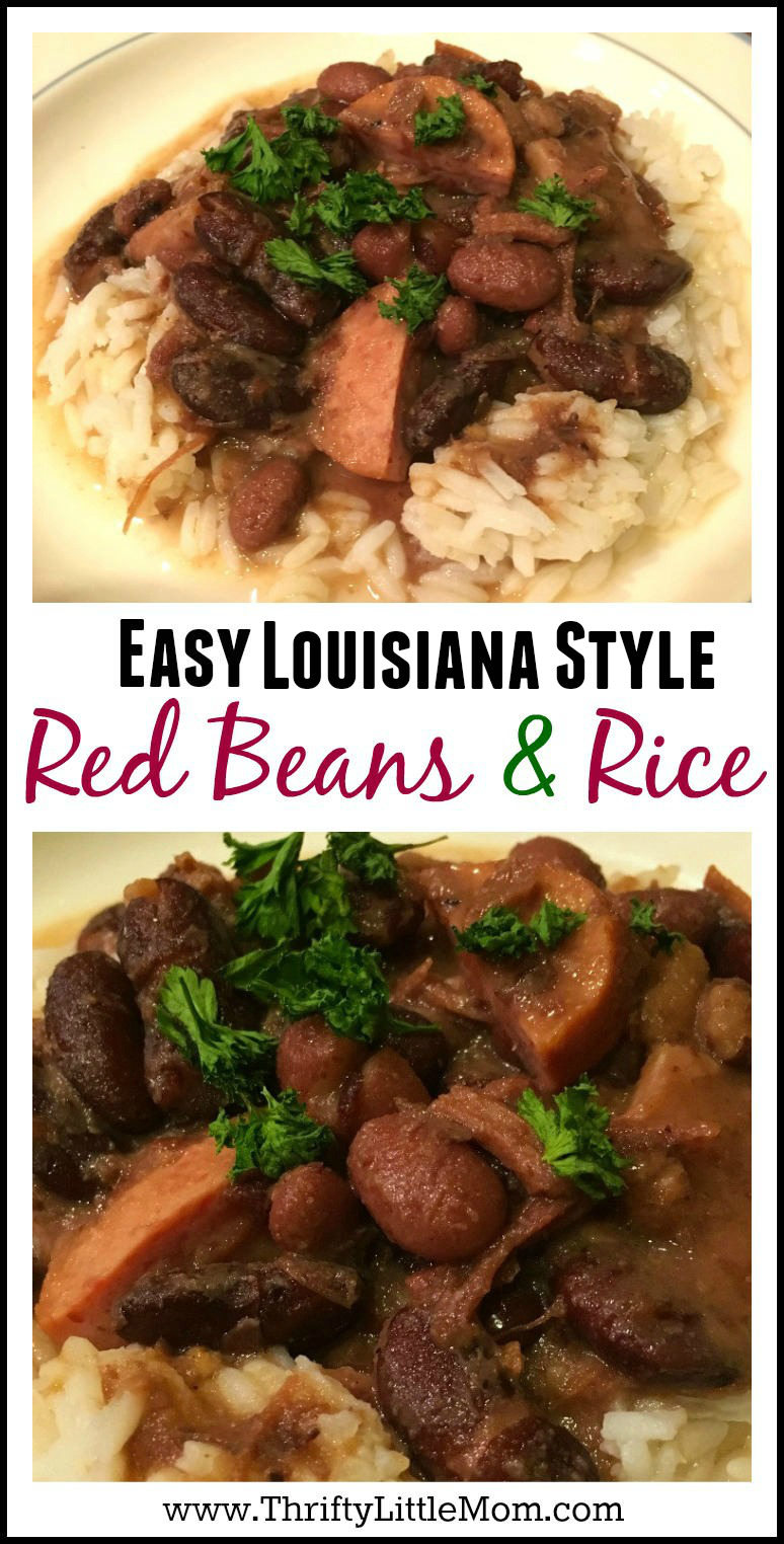 Easy Louisiana Style Red Beans and Rice Recipe