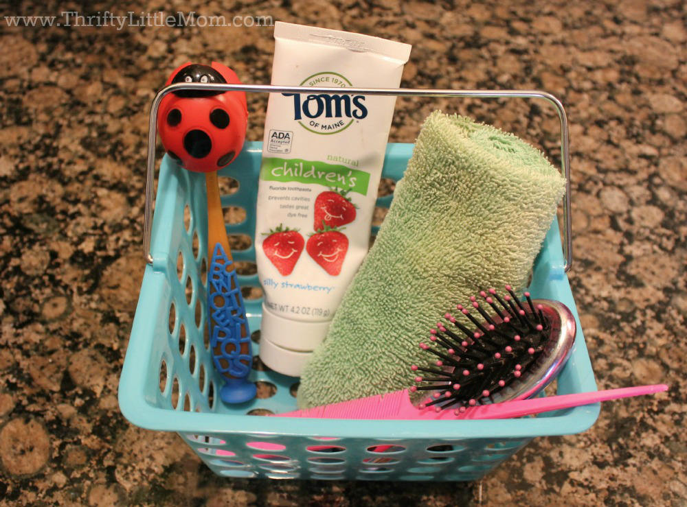 Preschooler Bathroom Organization