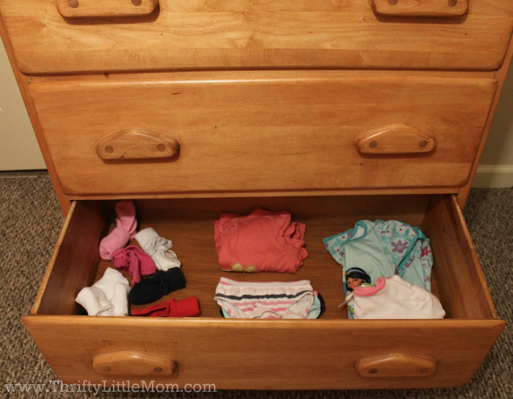 Preschooler Drawer Organization