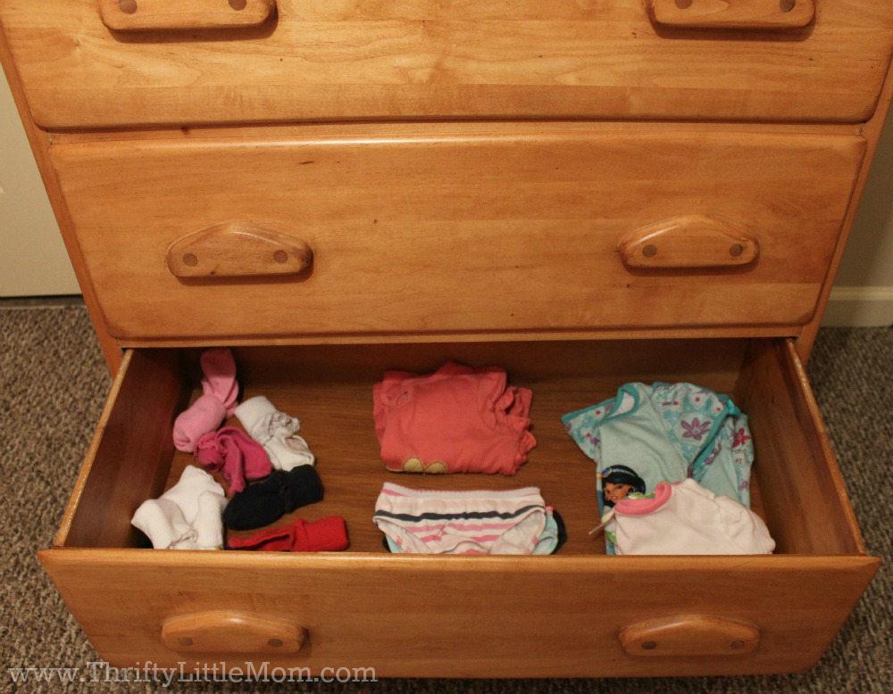 Preschooler Drawer Organization