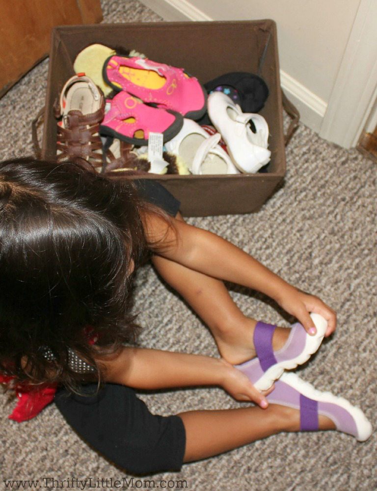 Preschooler Shoe Organization