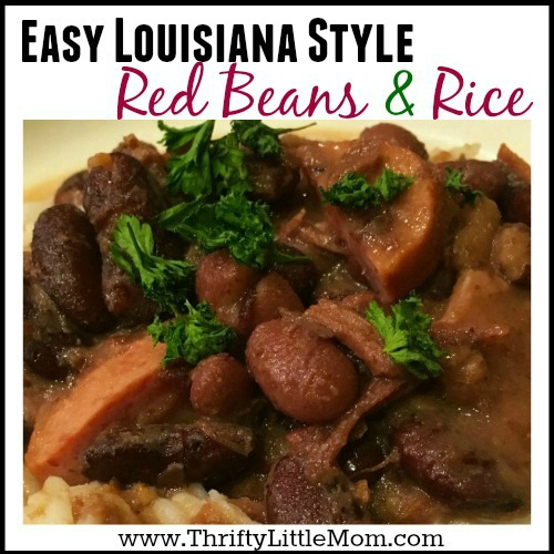 easy Louisiana Style Red Beans & Rice Recipe