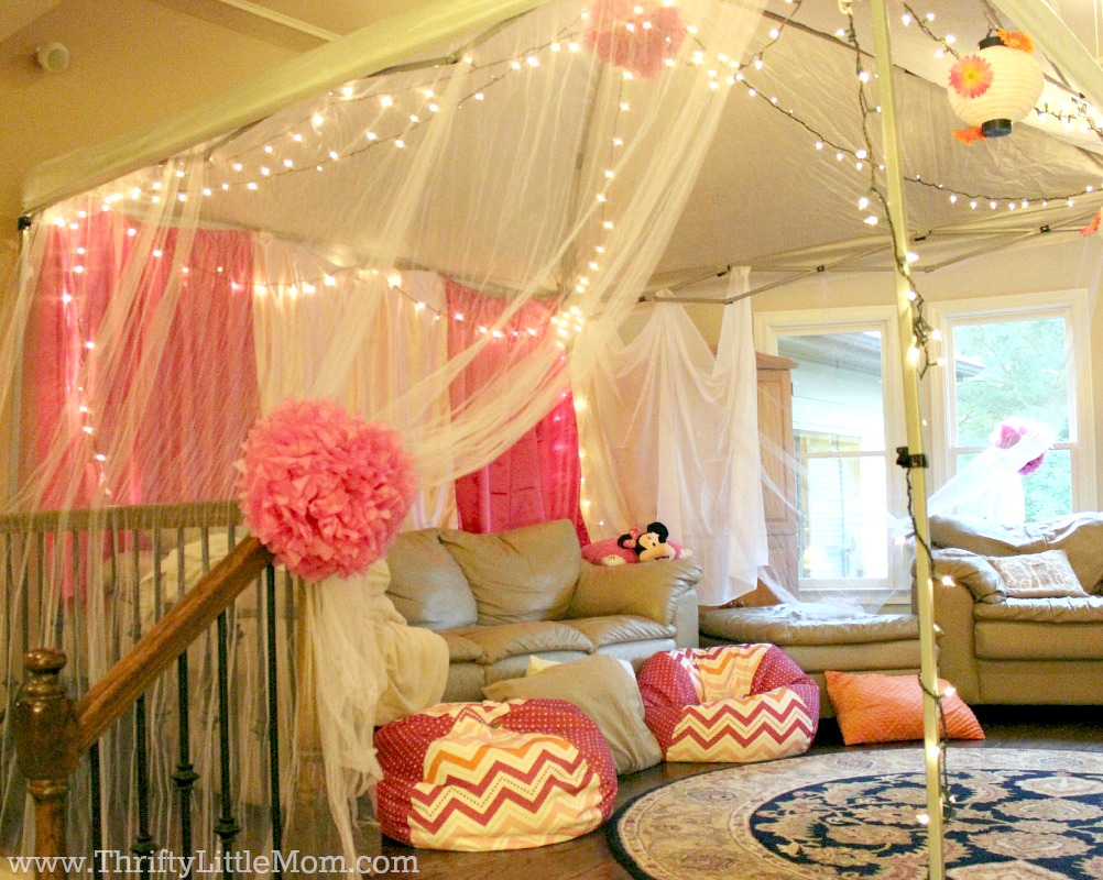 Indoor Movie Party Tent Side View & 5 Ideas for an Epic Indoor Movie Party at Your House