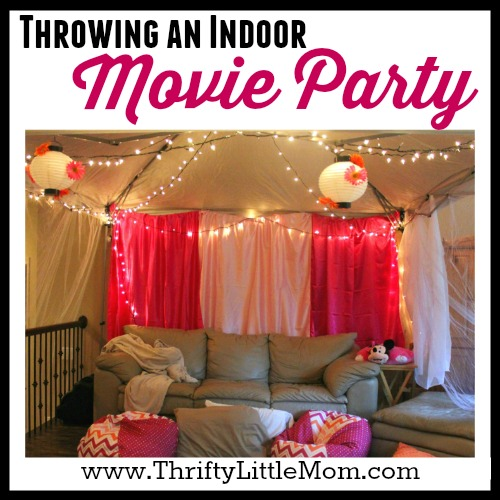 Throwing an Indoor Movie Party
