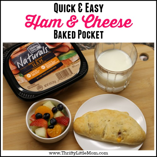 Quick & Easy Ham & Cheese Baked Pocket