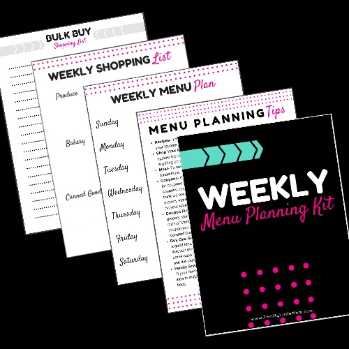 Black Background Weekly Menu Planning Kit Cover Art