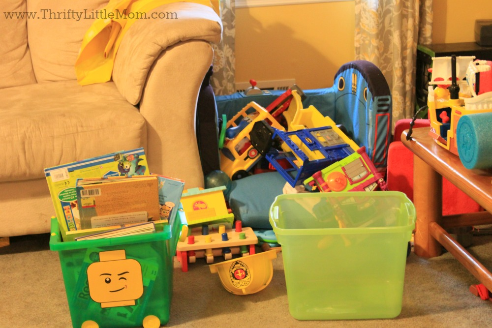 Sorting Out The Kid's Toys