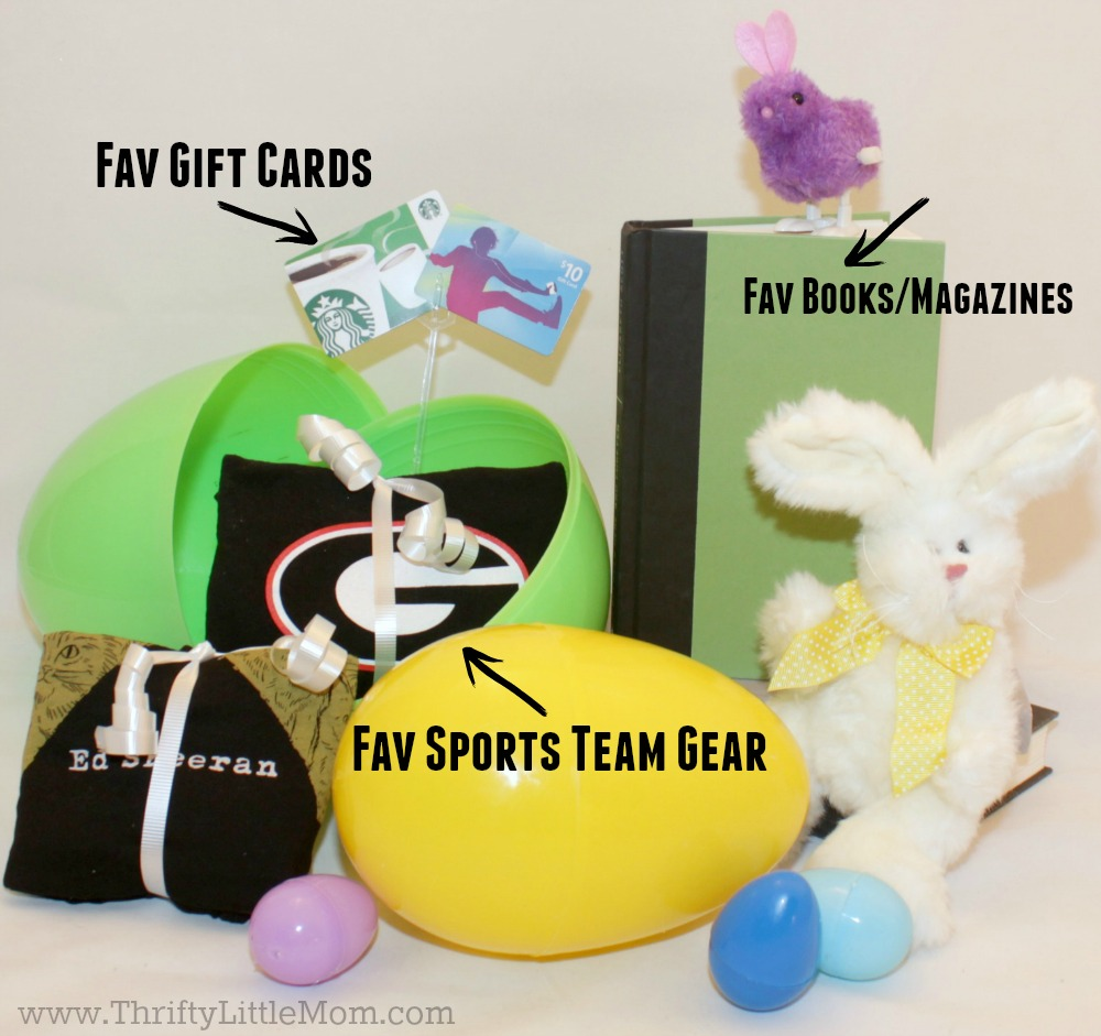 4 awesome teen easter basket ideas thrifty little mom teen easter basket ideas fill an egg negle Gallery
