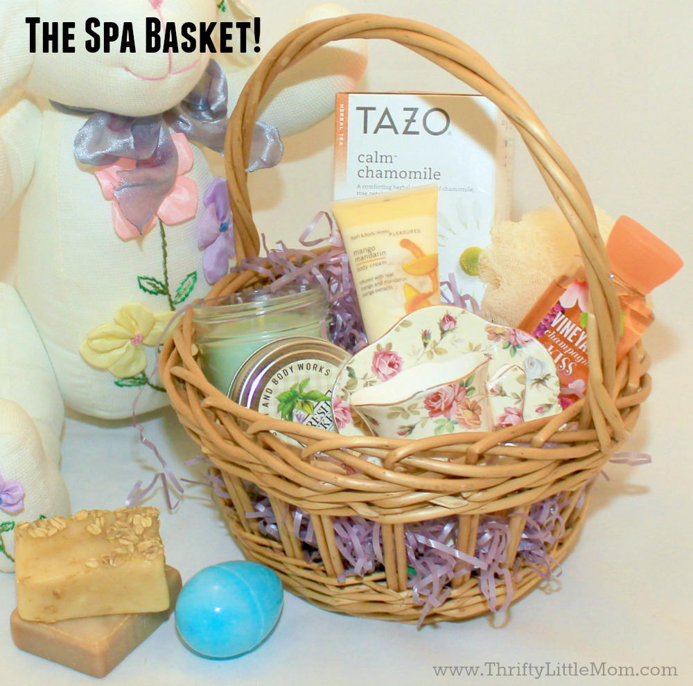 4 awesome teen easter basket ideas thrifty little mom teen easter basket ideas the spa basket negle Image collections