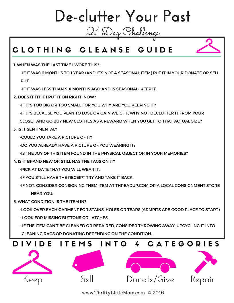 Clothing Cleanse Guide