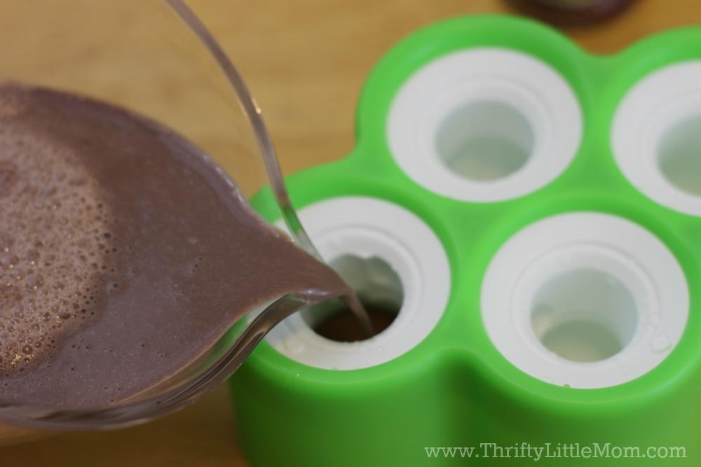 Creamy Chocolate Ice Pop Molds