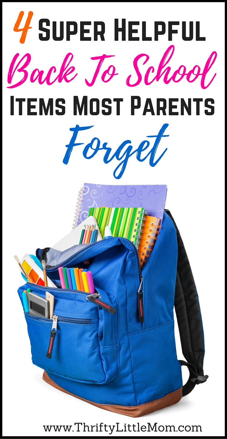 4 Helpful Back To School Items most parents forget. Stay organized and prepared this school year with these back to school items.