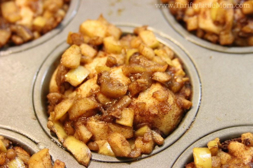 Apple Fritter Cinnamon Rolls After Baking