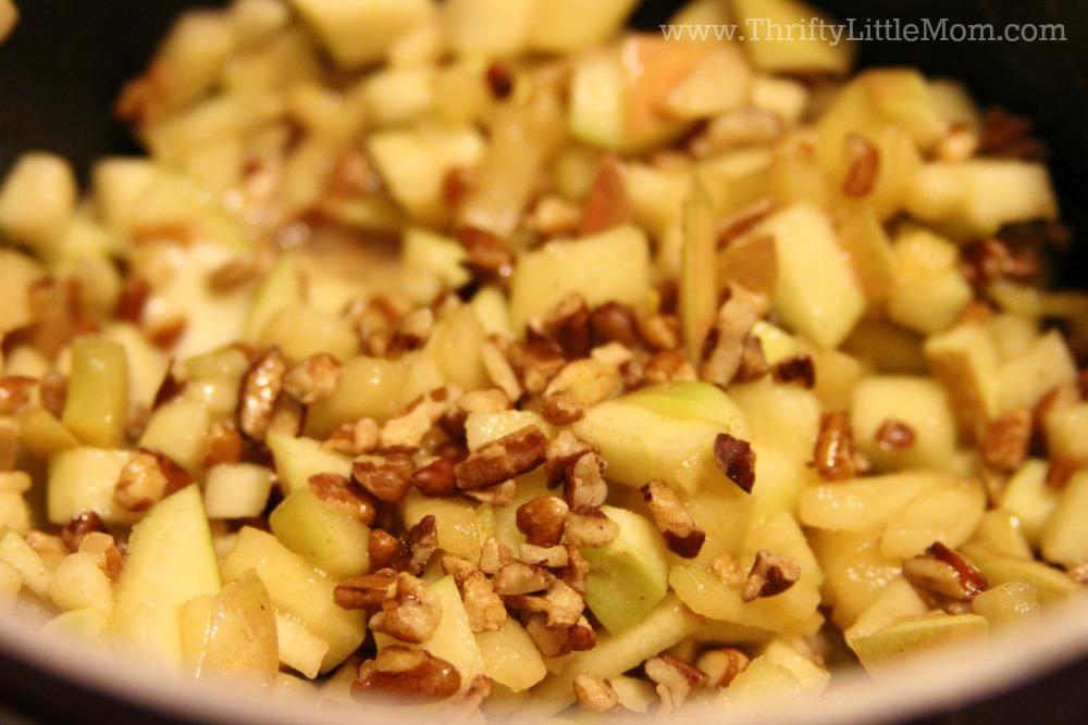 Apple Fritter Cinnamon Rolls Pecans