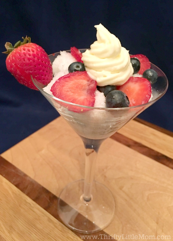 Berry Trifle in a Glass