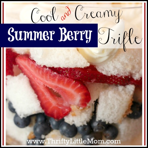 Cool & Creamy Summer Berry Trifle Recipe