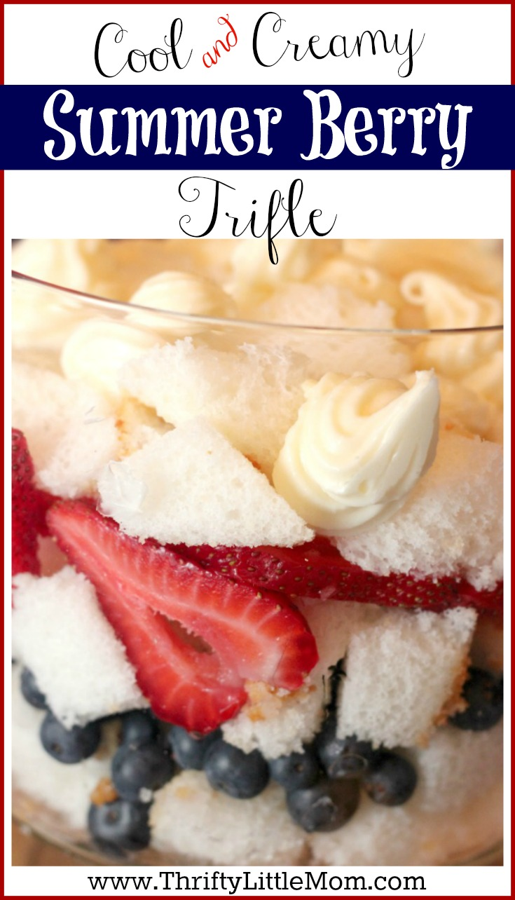 Cool & Creamy Summer Berry Trifle