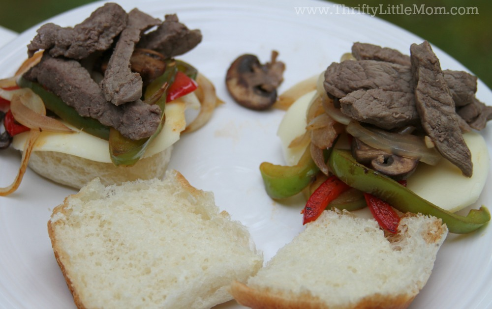 Philly cheesesteak with steak
