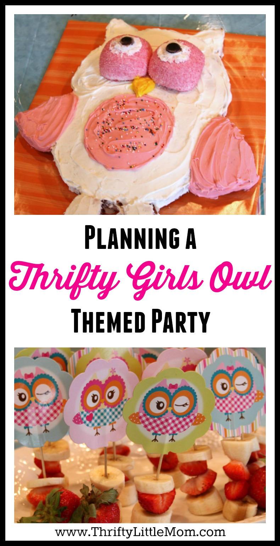 Groovy Throw A Cute Owl Themed Party Thrifty Little Mom Birthday Cards Printable Nowaargucafe Filternl