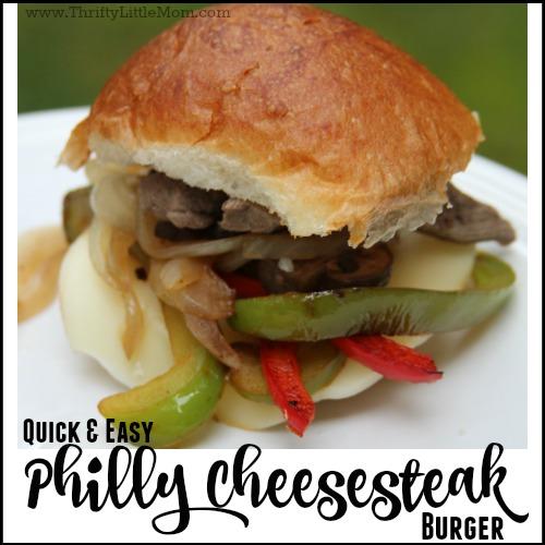 Quick & Easy Philly Cheesesteak Burger Recipe
