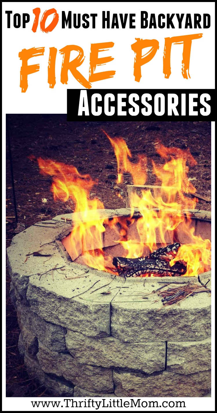 Top 10 Must Have Backyard Fire Pit Accessories. If you've got a backyard fire pit and are looking for the best outdoor living accessories to go with it, this post has lots of great ideas. These are even good for fire pit parties!