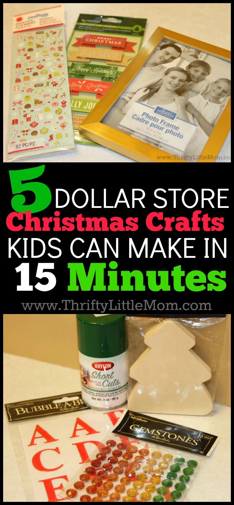5 dollar store christmas crafts kids can make in 15 minutes