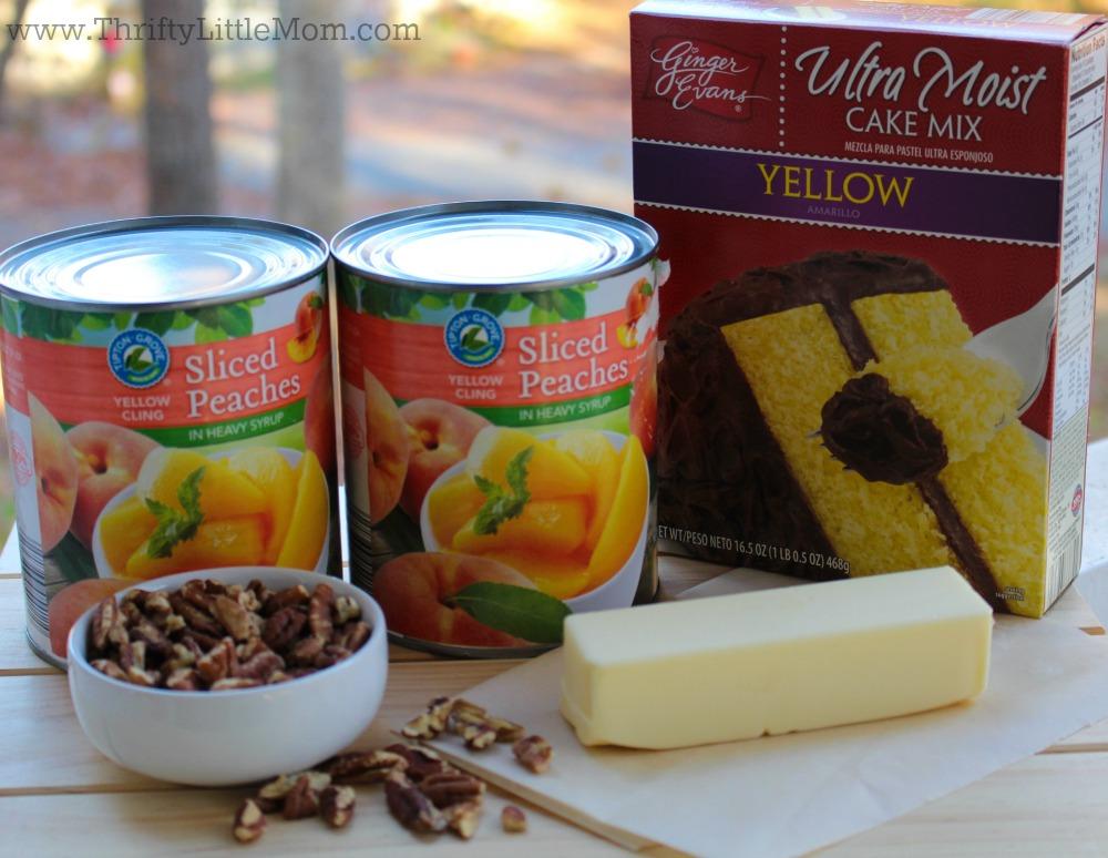 easy-peach-cake-cobbler-ingredients