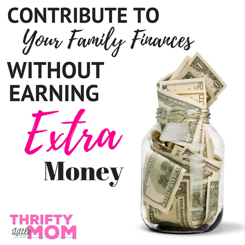 How To Contribute to Your Family Finances Without Earning Extra Money