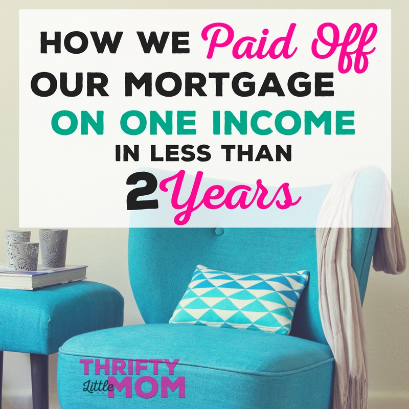 Paid off our mortgage