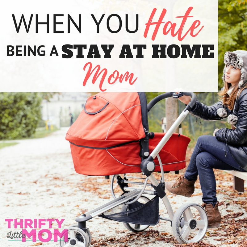 When you hate being a stay at home mom