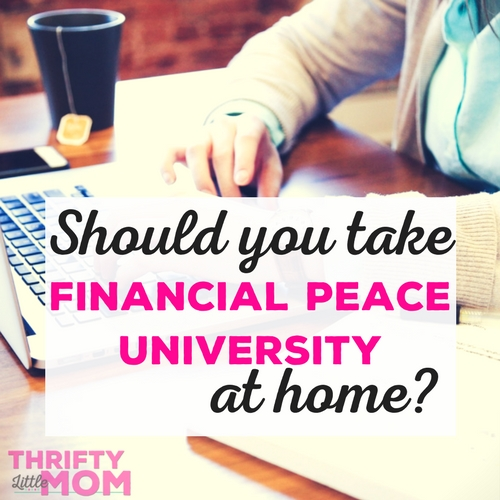 Taking Financial Peace University at Home