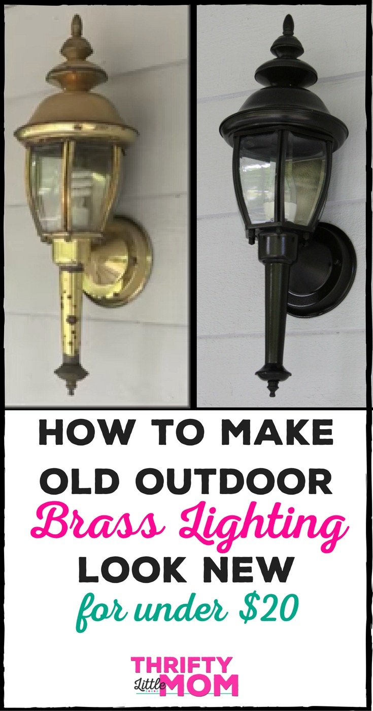 How to paint brass lights