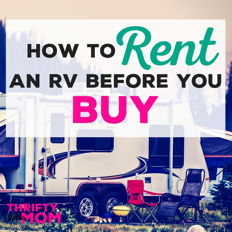 How To Rent an RV Before You Buy