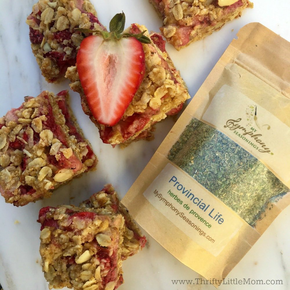 Strawberry Bars with Provincial Life Seasoning