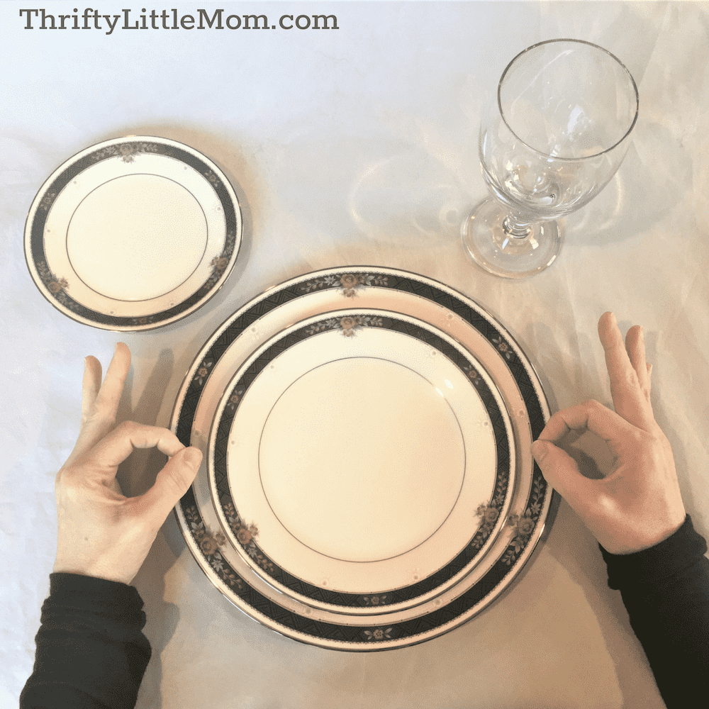 Basic Table Setting Bread plate & Water glass
