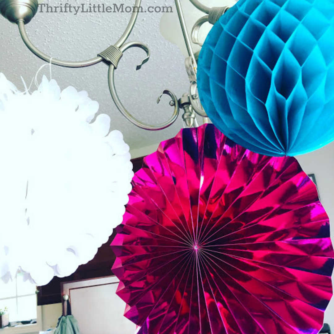 hanging decorations for mermaid themed baby shower