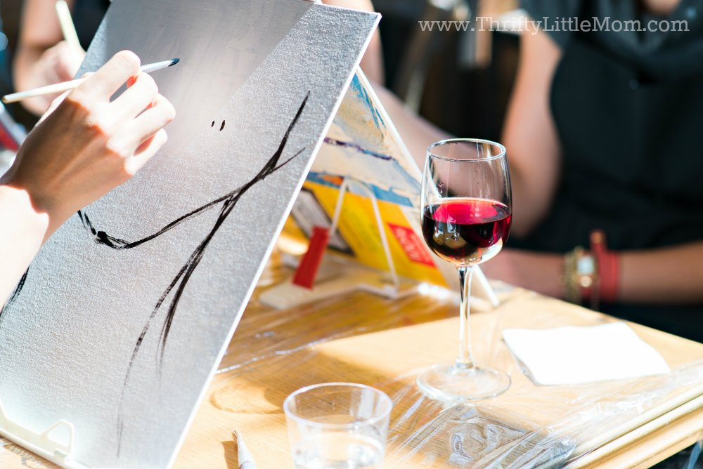 paint and sip party for mother's day