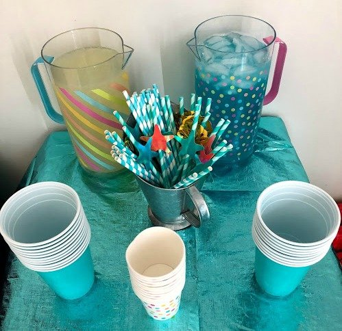 ocean water drink for mermaid themed baby shower