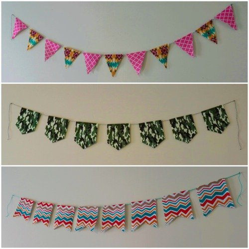 Easy No Sew Bunting Template