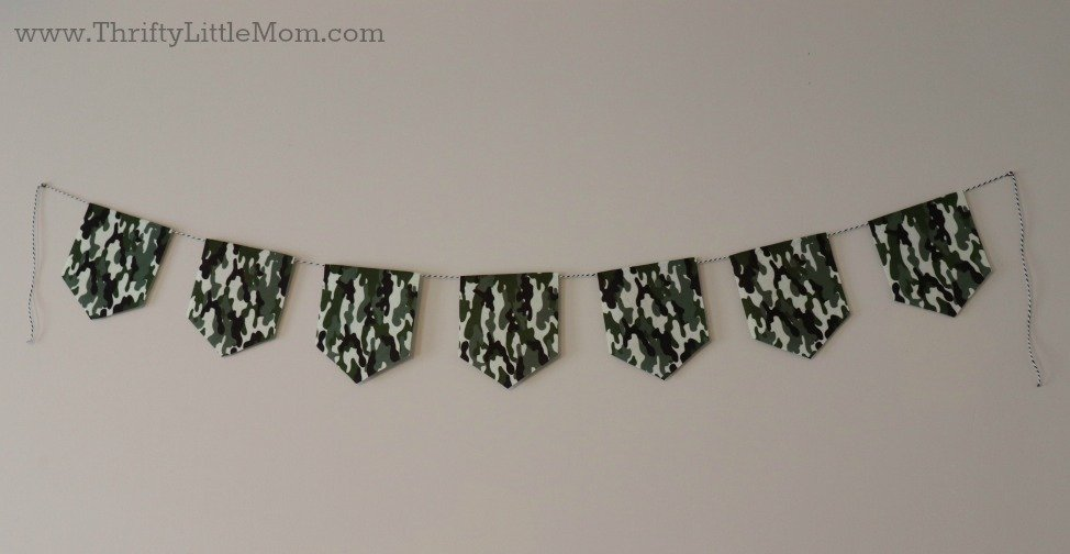 camouflage army style bunting