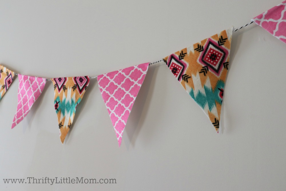 Triangle Bunting Template Close up