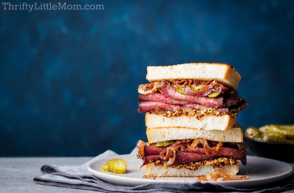 Harry Potter Shower Mrs. Weasley's Corned Beef sandwich